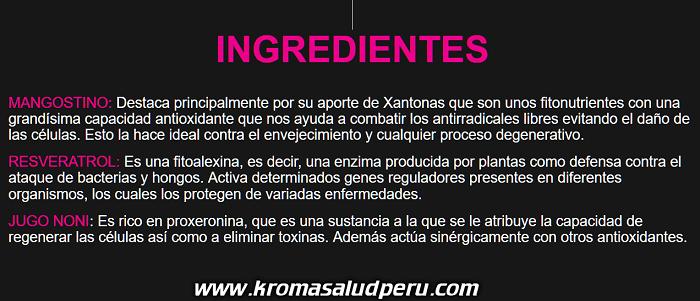 Ingredientes del KSMS-Kromasol